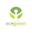 green ecology logo vector image vector image