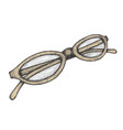 hand drawn eyeglasses vector image vector image