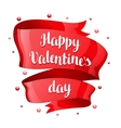 Happy Valentine day greeting card with Red shiny vector image vector image