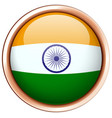 india flag on round frame vector image vector image