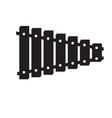 isolated xylophone toy icon vector image