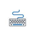 keyboard related glyph icon vector image vector image