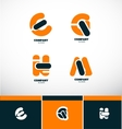 Letter logo icon set alphabet vector image