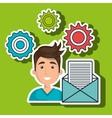 man gears icon vector image