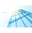 Modern blue glass wall of office building vector image vector image