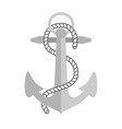 nautical anchor symbol of vector image