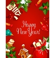 New Year holiday poster vector image vector image