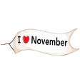 November vector image vector image