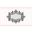 ornamented mirror or photo frame striped vector image