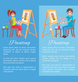 painting process banner color vector image vector image