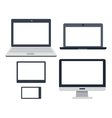 pc devices set collection of realistic monitors vector image vector image
