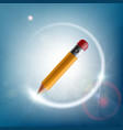 pencil draws a light ring art and creativity vector image