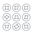 perspective icons on white vector image vector image