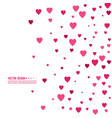 pink and red hearts vector image