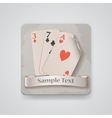 Playing cards icon vector image vector image
