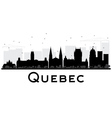 Quebec City skyline black and white silhouette vector image vector image
