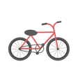 Red bicycle isolated vector image