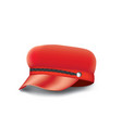 red woman military cap vector image