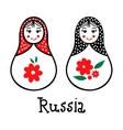 Russian traditional wooden toys babushka vector image vector image