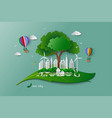 save the environment conservation ecology concept vector image vector image