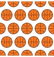 Seamless pattern of basketball sports balls vector image vector image