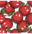 Seamless Pattern Red Apples vector image vector image
