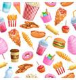 seamless pattern street food vector image vector image