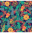 seamless pattern with hand drawn blooming flowers vector image vector image