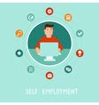 self employment vector image vector image