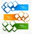 Set of banners with squares vector | Price: 1 Credit (USD $1)