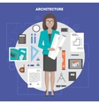 set of icons flat architecture and design vector image vector image