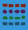 set of speech bubble icons vector image vector image