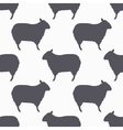 Sheep silhouette seamless pattern Lamb meat vector image vector image