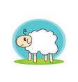 Sheep with shadow vector image vector image