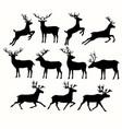 silhouettes deers vector image