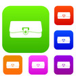 small wallet set color collection vector image vector image