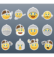 Smilies Vikings and Knights vector image vector image