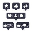 social media instagram modern button in golden vector image