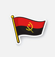 sticker flag angola vector image