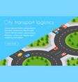 transport logistics 3d isometric city vector image vector image