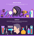 two hairdresser composition vector image