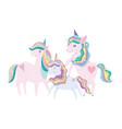 unicorns stars and rainbow dream magic decoration vector image vector image