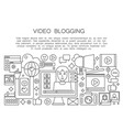 video blogger thin line concept computer screen vector image vector image