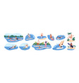 water sports set people riding floating vector image