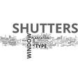 window shutters text word cloud concept vector image vector image