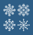 winter snowflake set white isolated icon vector image