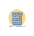 wire framing web layout development glyph icon vector image vector image