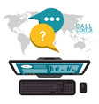 call center world support service vector image