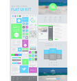 flat UI kit for web and mobile vector image