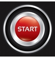 Start button on Carbon fiber background vector image